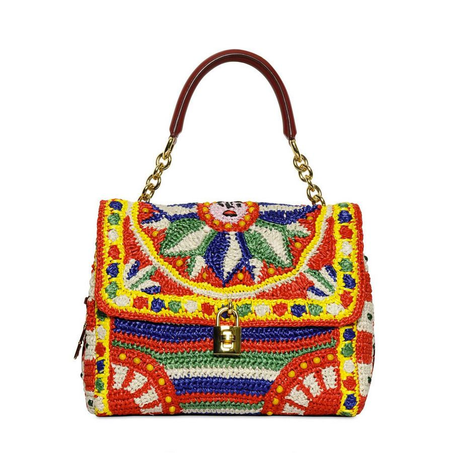 Gojee Crochet Raffia Bag By Dolce Gabbana