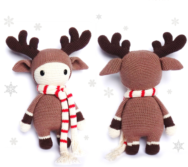 REINDEER Crochet Pattern, Timmy | Patrones de crochet, Patrones y ...