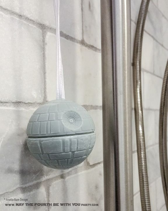 diy death star soap on a rope from silicone mold check