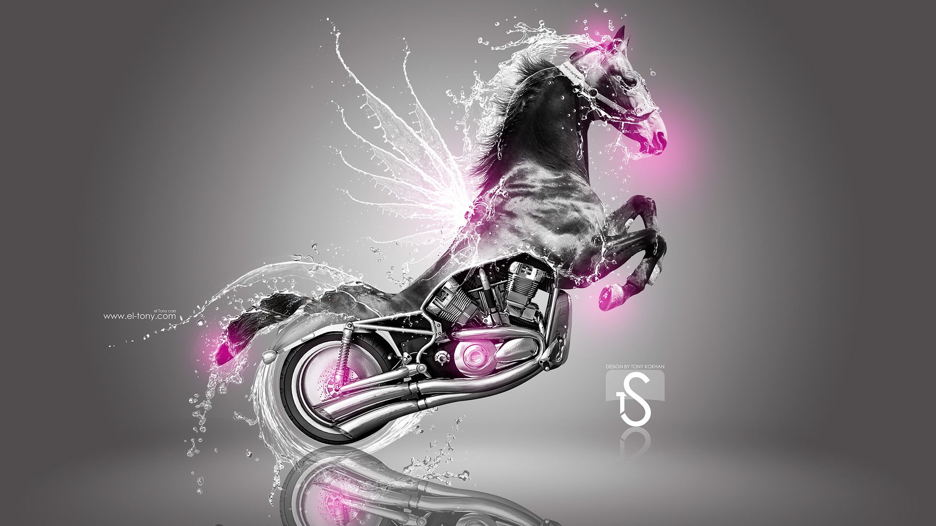 Merveilleux Moto Harley Davidson Pink Fire Horse Sb 2013 Design By Tony  Kokhan Car Pictures