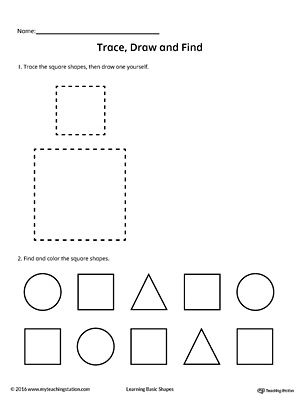 Geometric Shape Bingo Printable Card: Square, Circle, Triangle ...