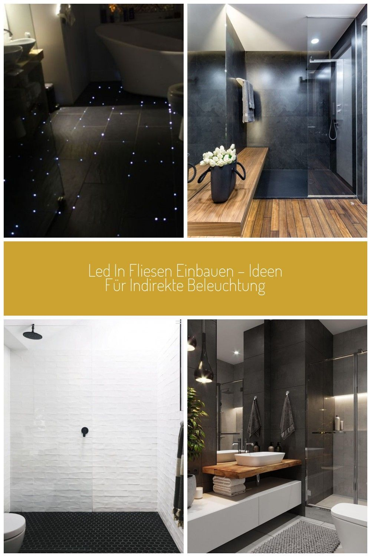 Led Fliesen Indirekte Beleuchtung Badezimmer Dunkel Fussboden