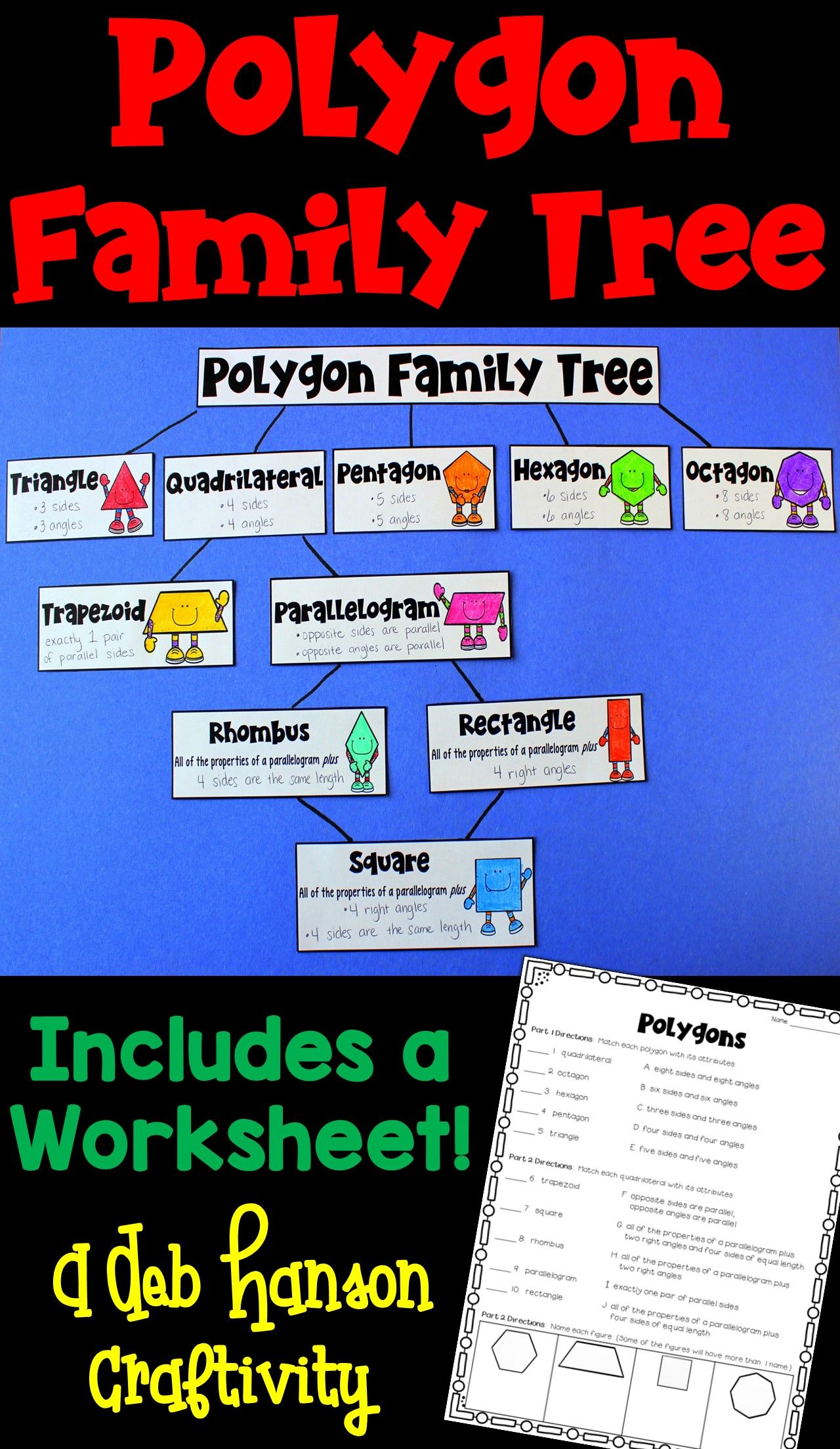 Polygon Family Tree Craftivity