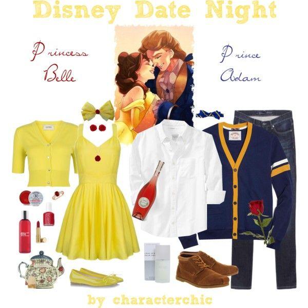 disney date night belle adam tenue fashion and movies pinterest v tements disney. Black Bedroom Furniture Sets. Home Design Ideas