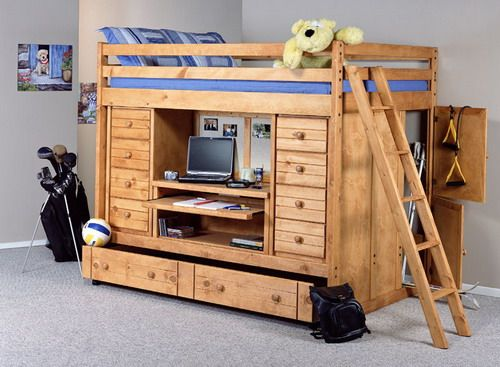trendwood bayview full rodeo loft bed design some loft bed ideas and free loft bed plans - Free Loft Bed With Desk Plans