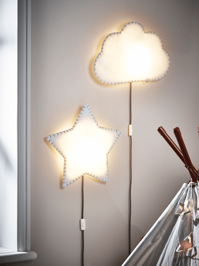 Cloud And Star Light 675x900 20+ Ceiling Lamp Ideas For Kidsu0027 Rooms In 2017
