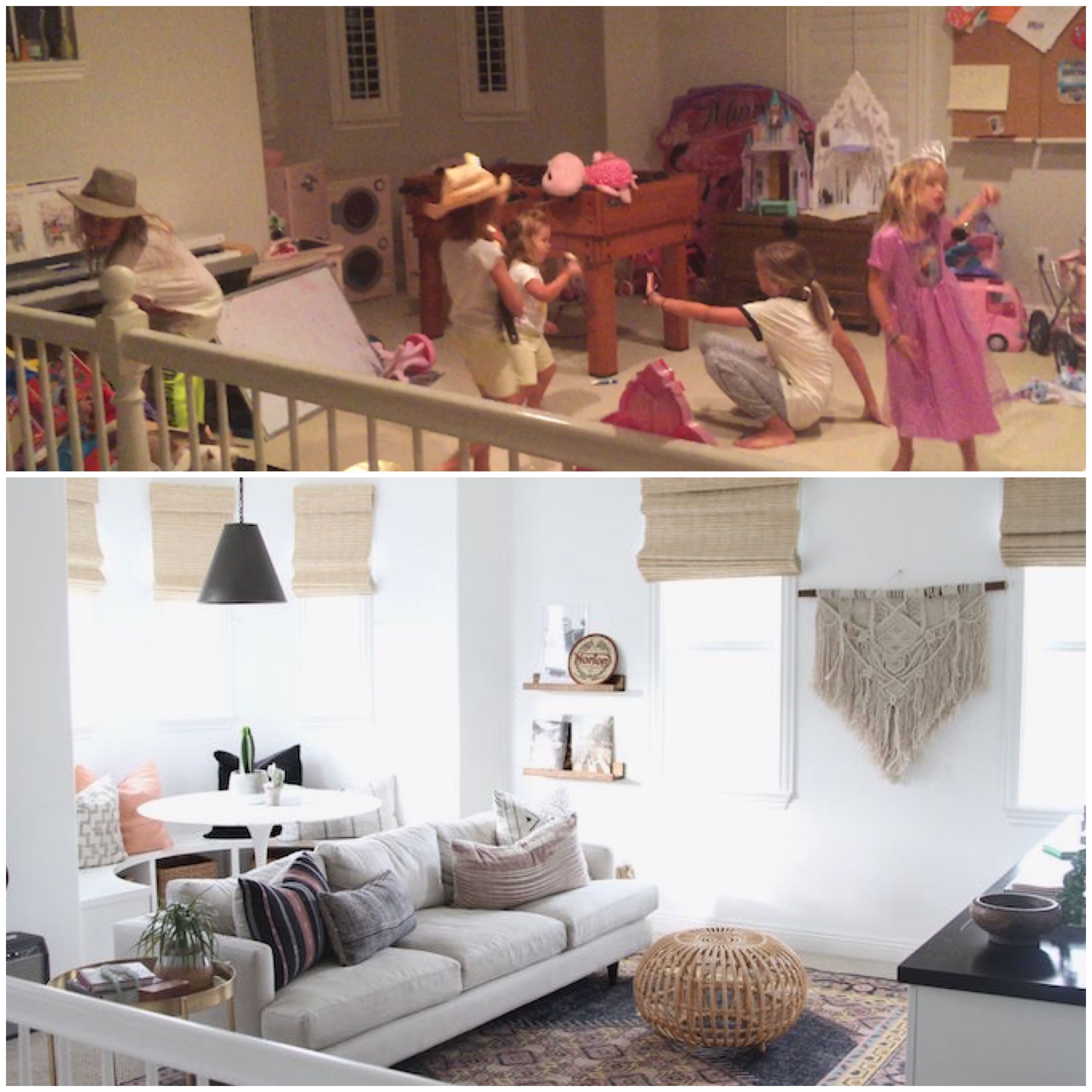 BECKI OWENS- How to Transform a Playroom to a Teen Hangout. Before and  After+