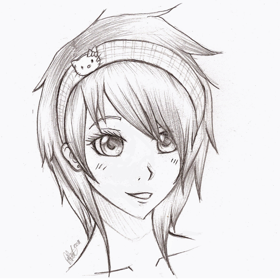 Anime sketches anime girl sketch by mr awesomenessist on deviantart