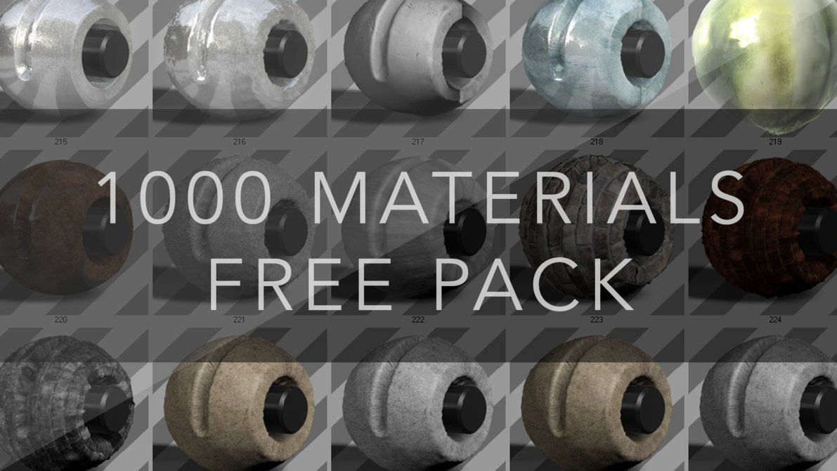 Cinema 4D Material Pack [over 1000 Materials] by elFABIOFX
