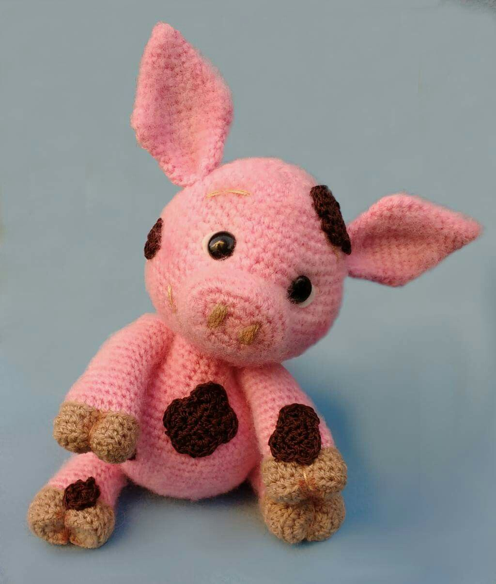 Crochet little piggy | Amigurumi Pattern | Pinterest | Häkeltiere ...
