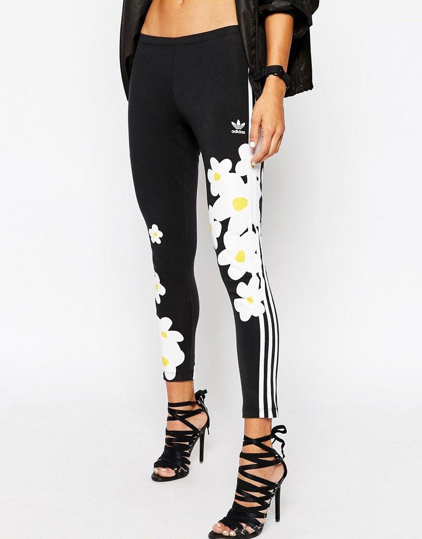 adidas floral leggings