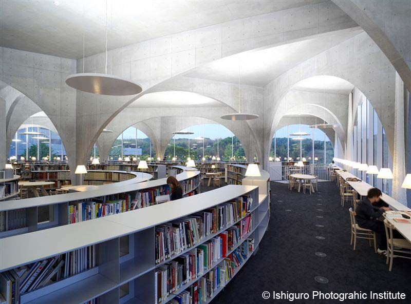 Interior Tama Art University Library Hachioji Campus Kobe Japan