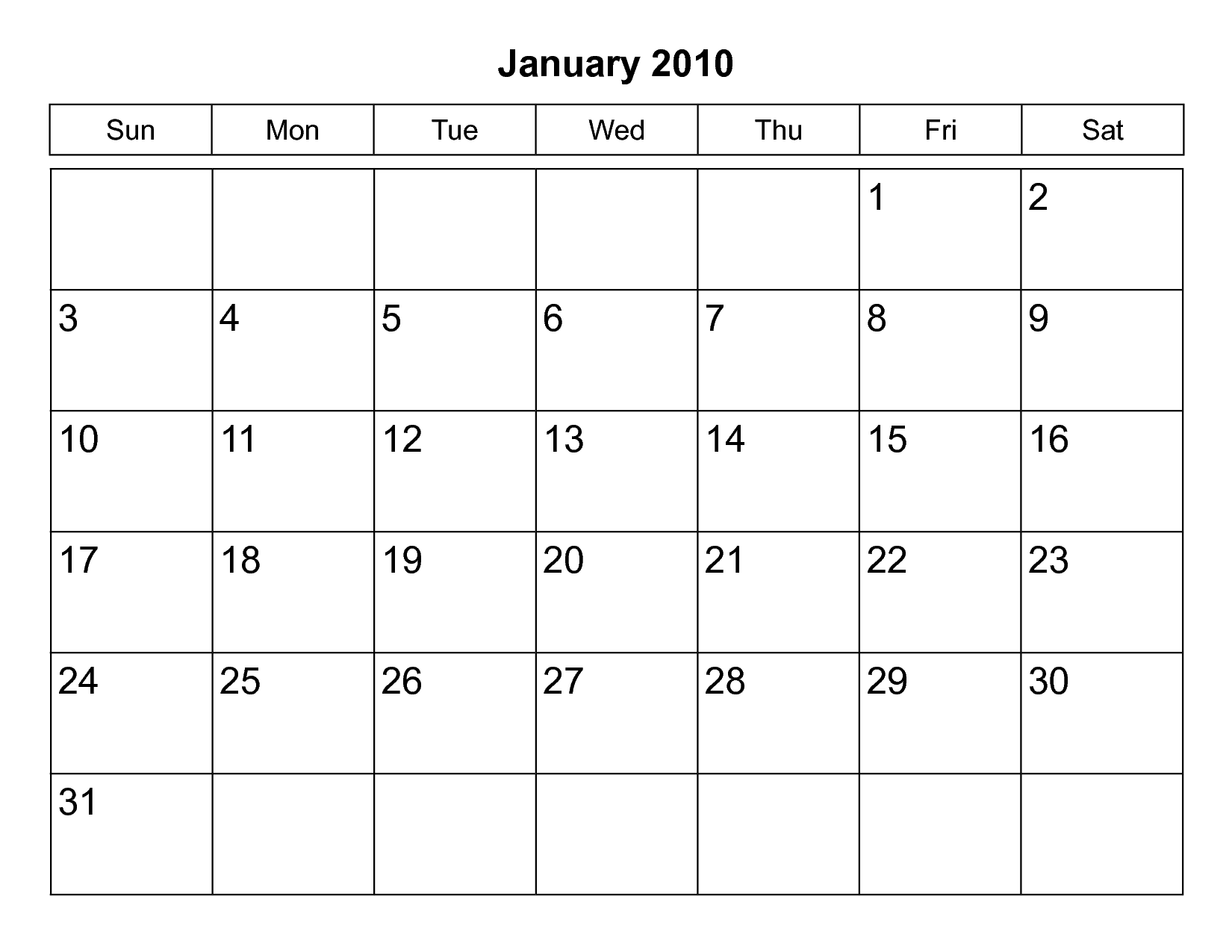 Month Calendar Print Out  Scope Of Work Template  Calandar