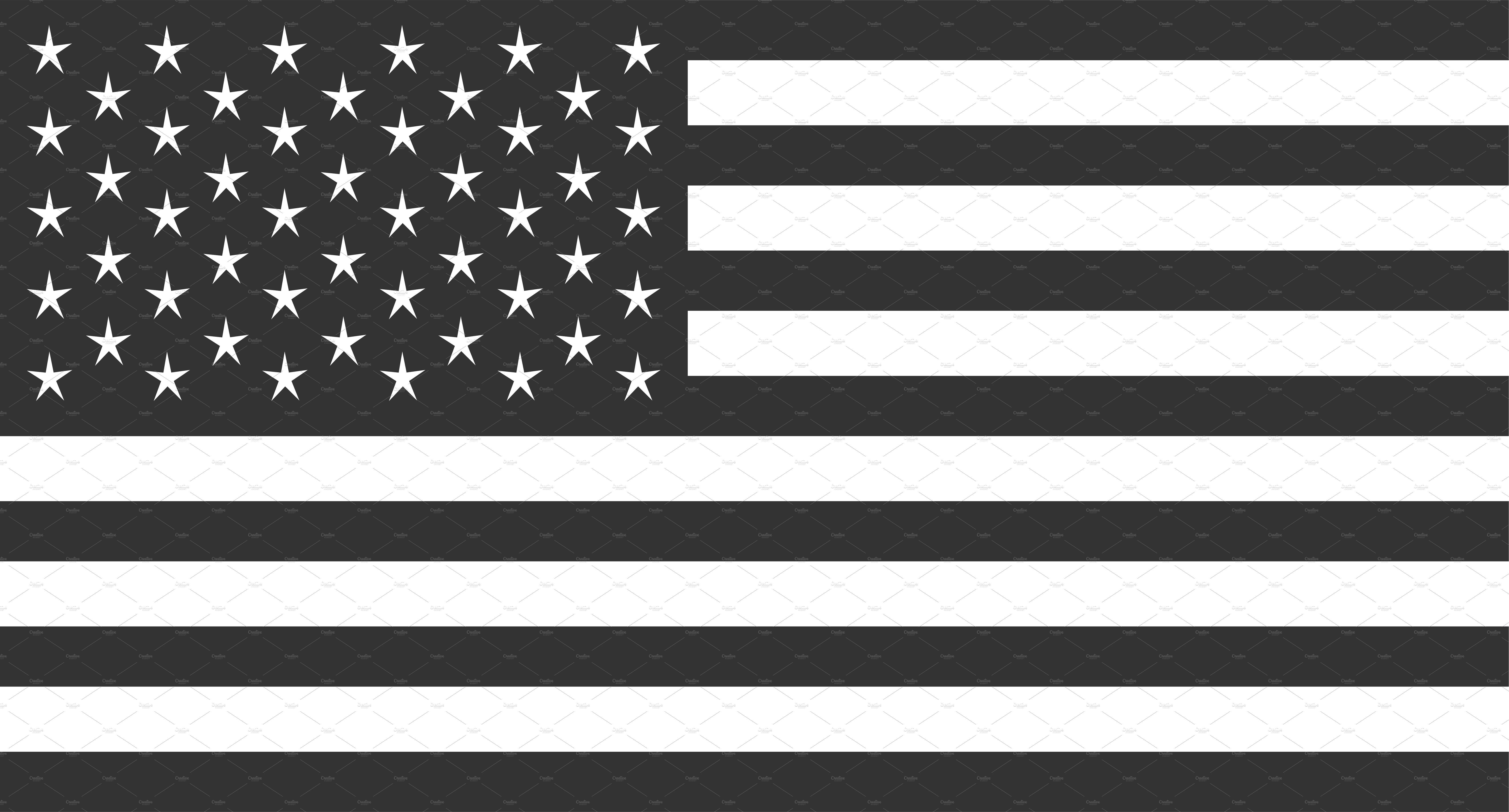 USA flag vector, American flag black Americanblack