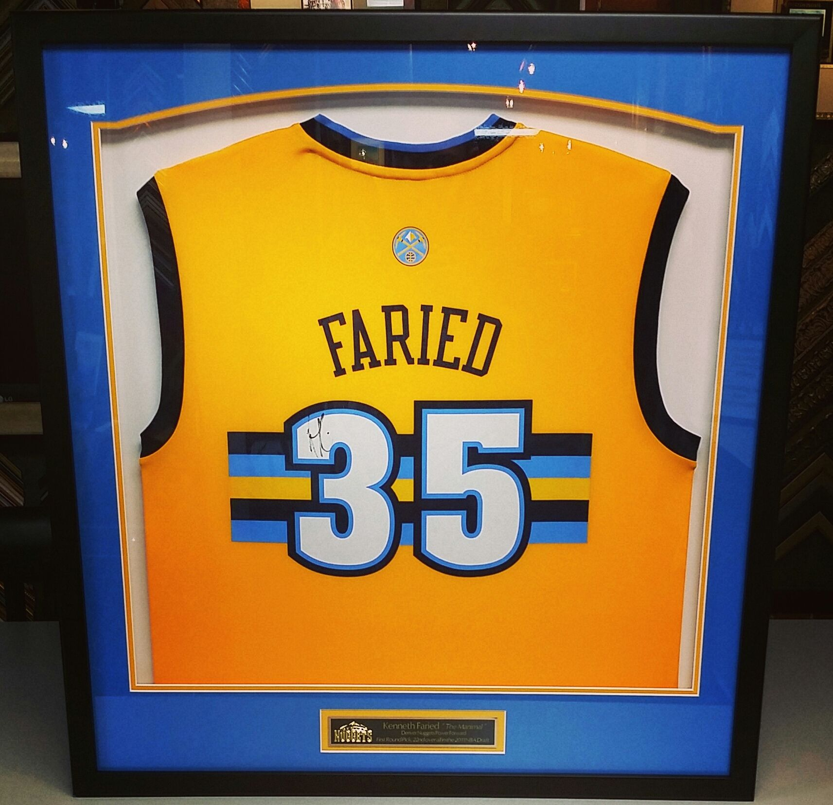 Pin by FastFrame of LoDo on Jersey Framing & Sports Framing ...