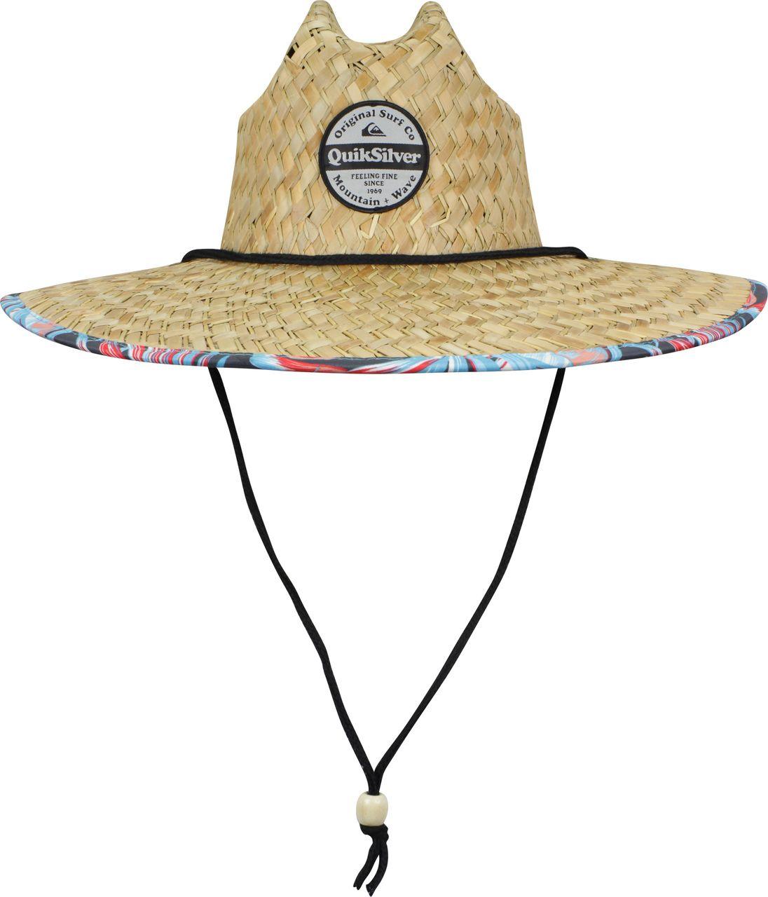 Quiksilver Mens Outsider Wide Brim Straw Sun Hat Blue Yonder Straw Sun Hat Sun Hats Hats