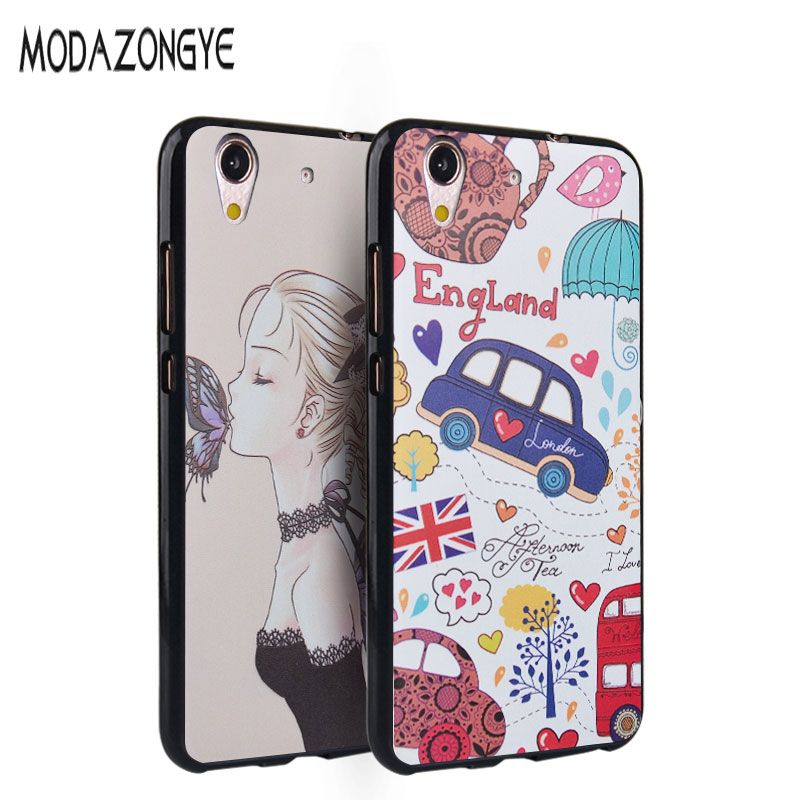 super popular d613d 05afe For Huawei Y6 II Case 5.5 inch 3D Cartoon TPU Back Cover Phone Case ...