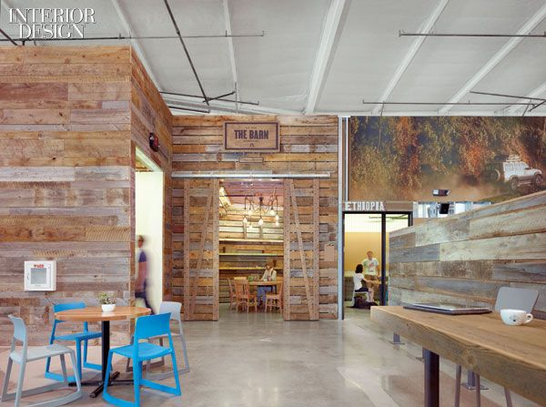 Boardhouse Supplies Reclaimed Lumber From Northern Montana For Most Of The Mill Work And Wall Siding In This Spectacular Toms Shoes Corporate Office