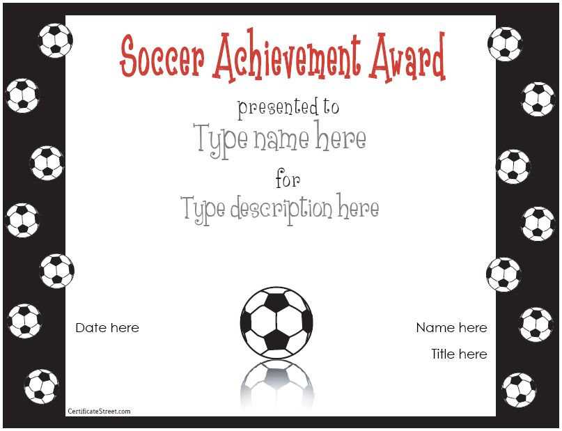 Free Editable Soccer Certificates Free printable editable soccer - new printable sport certificates