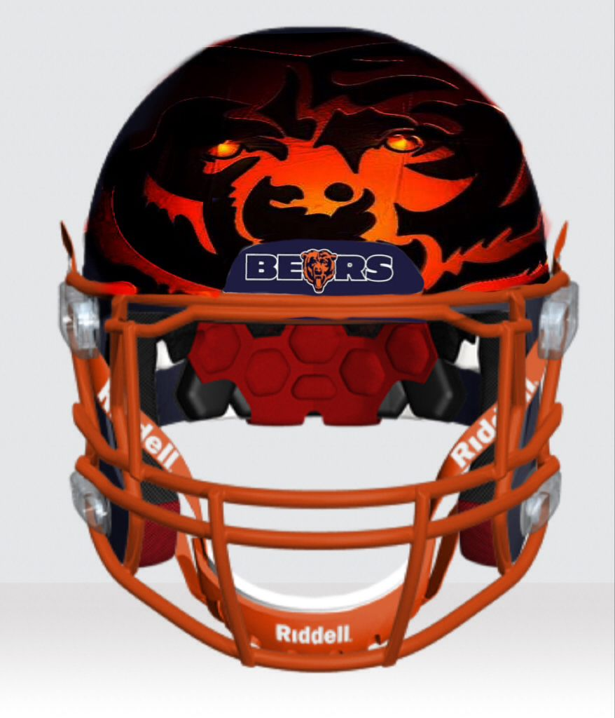Bears prototype helmet designed by ace ivey chicago fans