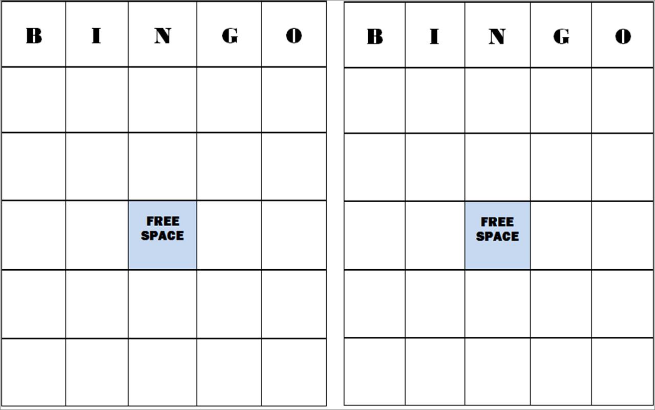 Pumpkin Bingo Cards
