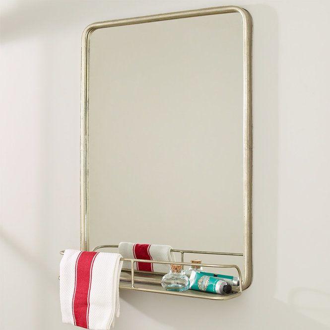 Metal Mirror With Shelf Small Mirror With Shelf Metal Mirror Bathroom Mirror Frame