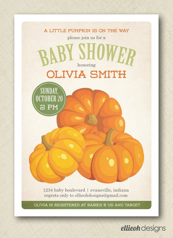 rustic pumpkin seed packet baby shower invite PRINTABLE digital file
