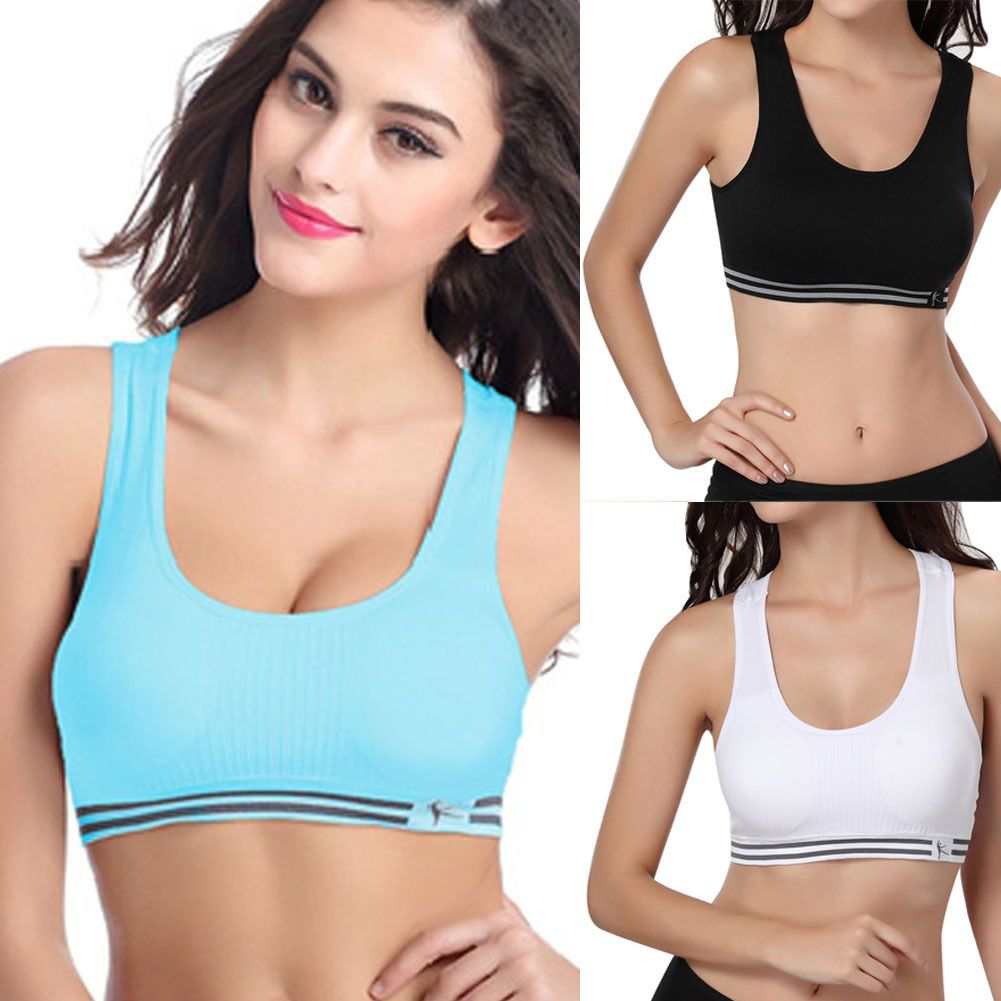 9a62547dfd1bf Women Lady Seamless Yoga Sports Bra Crop Top Vest Comfort Stretch Bras  Shapewear