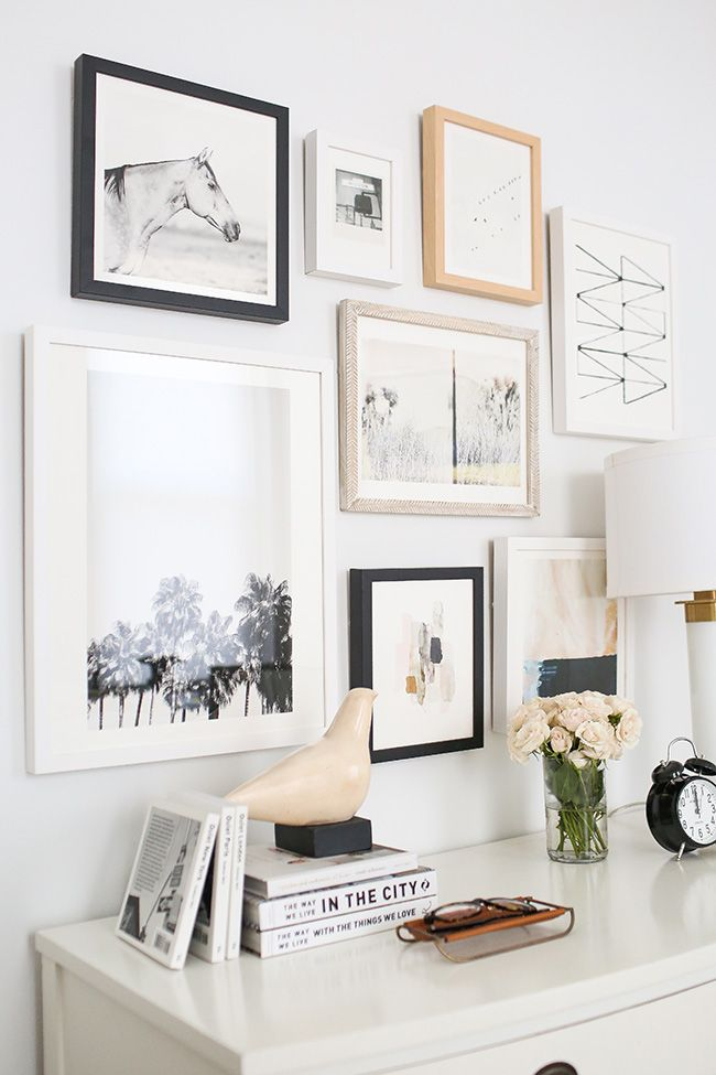 How To Curate Art For A Collage Gallery Wall + Minted Giveaway