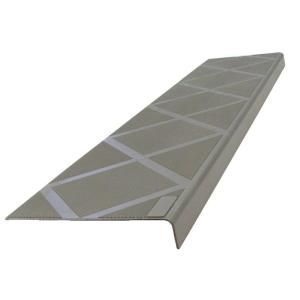 ComposiGrip Anti Slip Stair Tread 48 In. Grey Step Cover 01106C At The Home  Depot