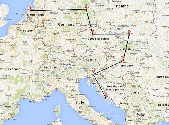 Interrail route | InterRailing | Pinterest