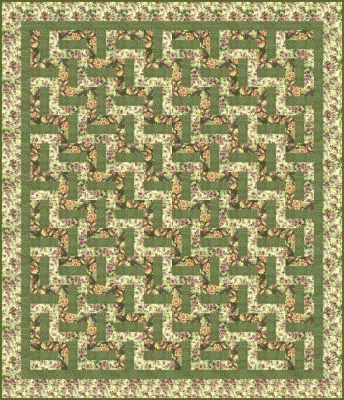Easy Rail Fence Quilt.....Love using the Rail Fence Pattern....this one is especially pretty.