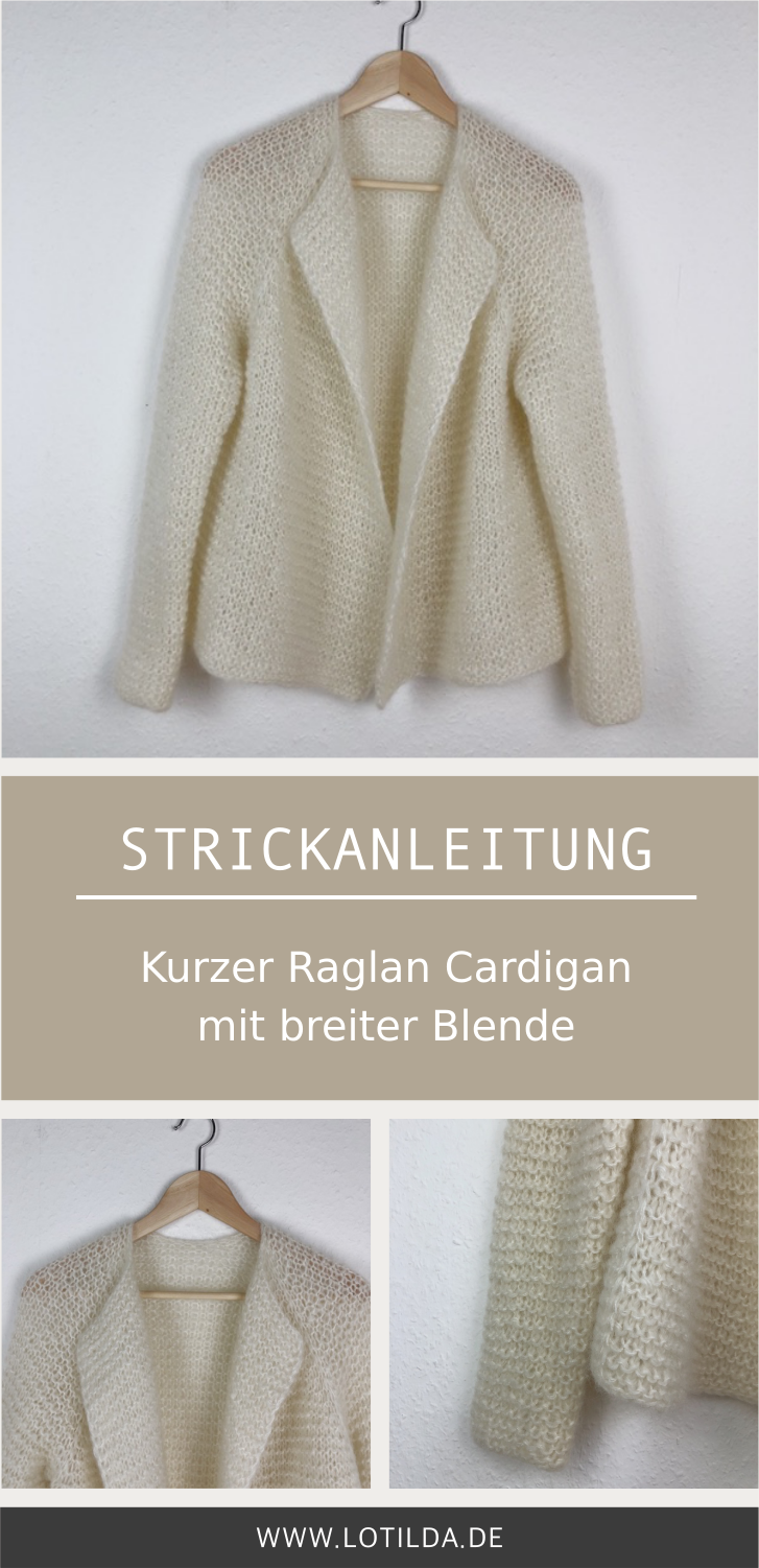 Photo of KARLA – Kurzer Raglan Cardigan mit breiter Blende • LOTILDA