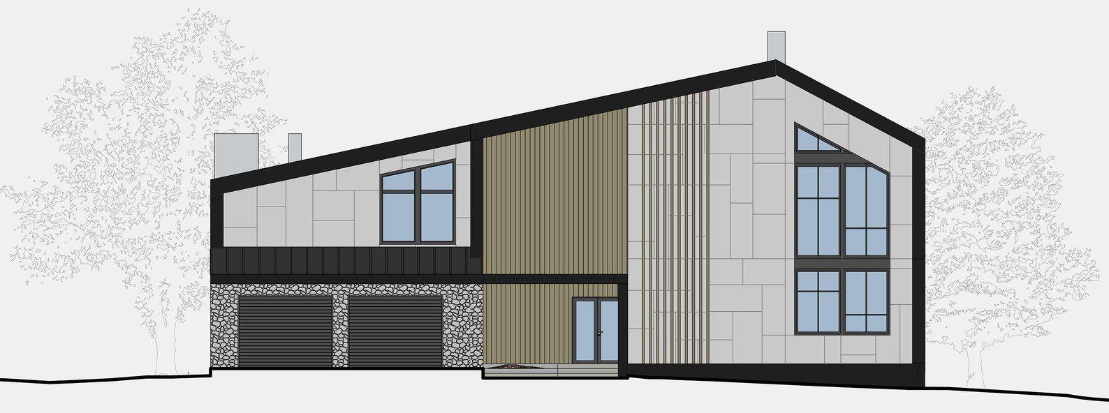 Modern House Plan Building Plans Blueprints Material List Etsy