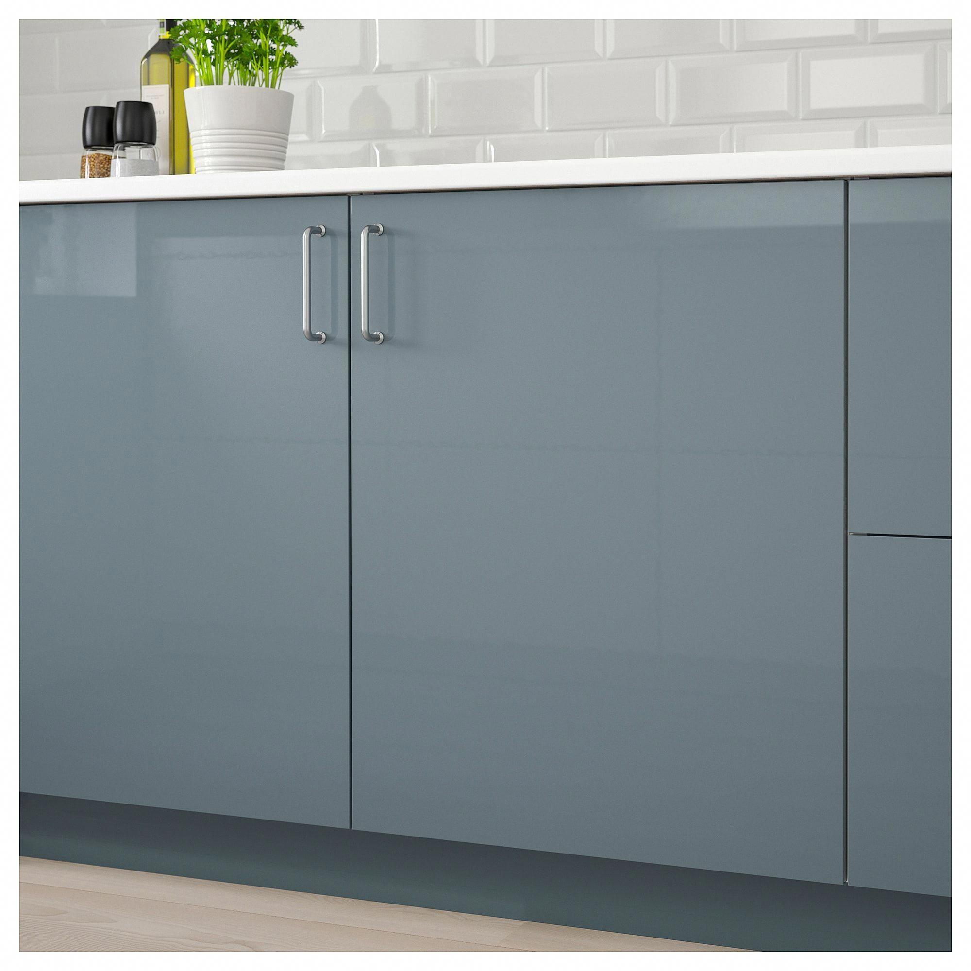 Best Ikea Kallarp High Gloss Gray Turquoise Door Graykitchen 640 x 480