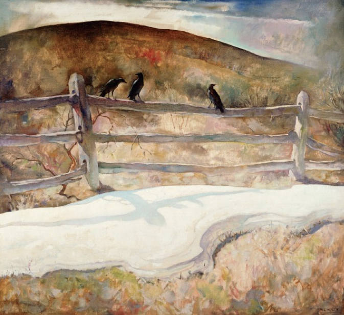 """N.C. Wyeth (1882-1945)  """"Dying Winter"""", 1934  Oil on canvas, Brandywine River Museum"""