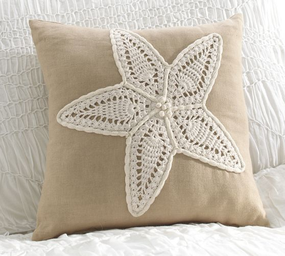 Crochet Starfish Decorative Pillow Pottery Barn Projects To Try Fascinating Pottery Barn Decorative Pillows On Sale