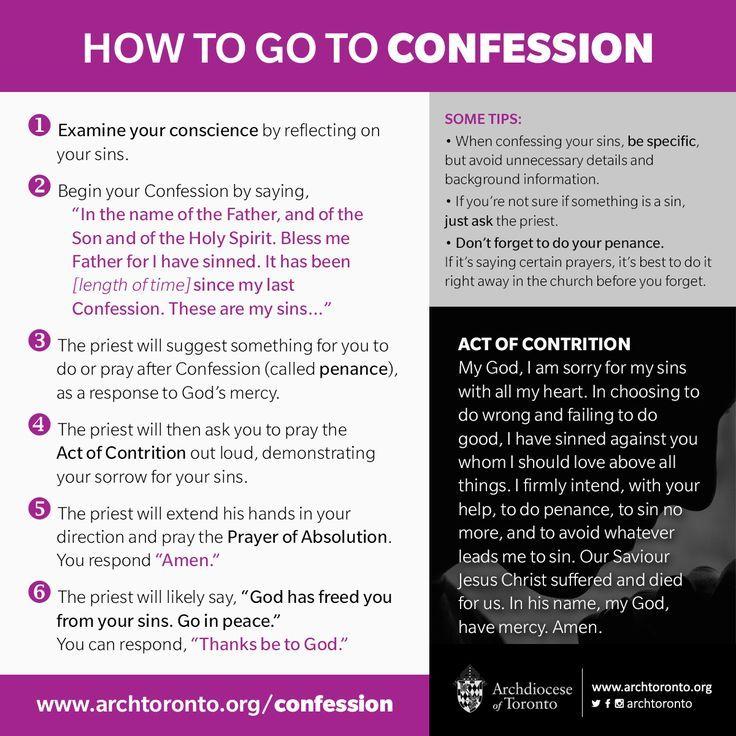 how to do a good catholic confession