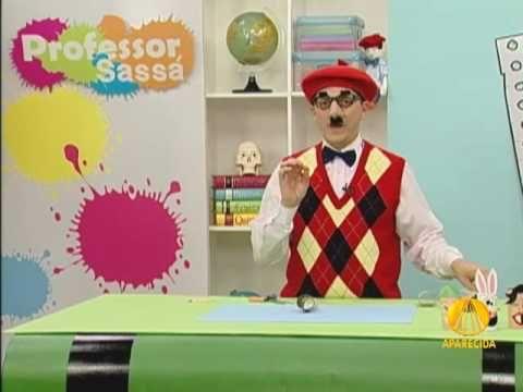 Bonecos de rolo de papel higiênico - Professor Sassá