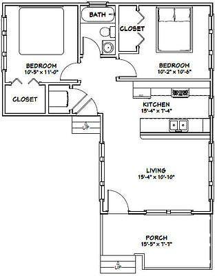16x30 Tiny House 705 Sq Ft Pdf Floor Plan 9ft