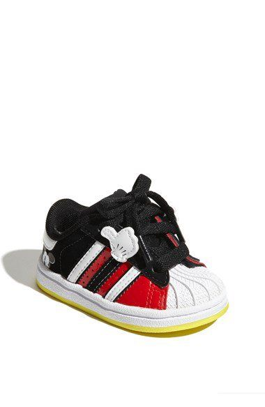 adidas 'Superstar Walker, Disney Mickey' Sneaker (Baby, Walker, 'Superstar Toddler aa9f78
