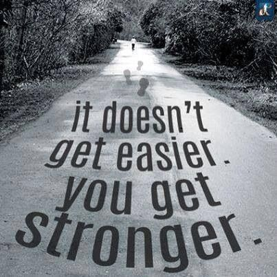 Image result for it doesn't get easier you just get stronger
