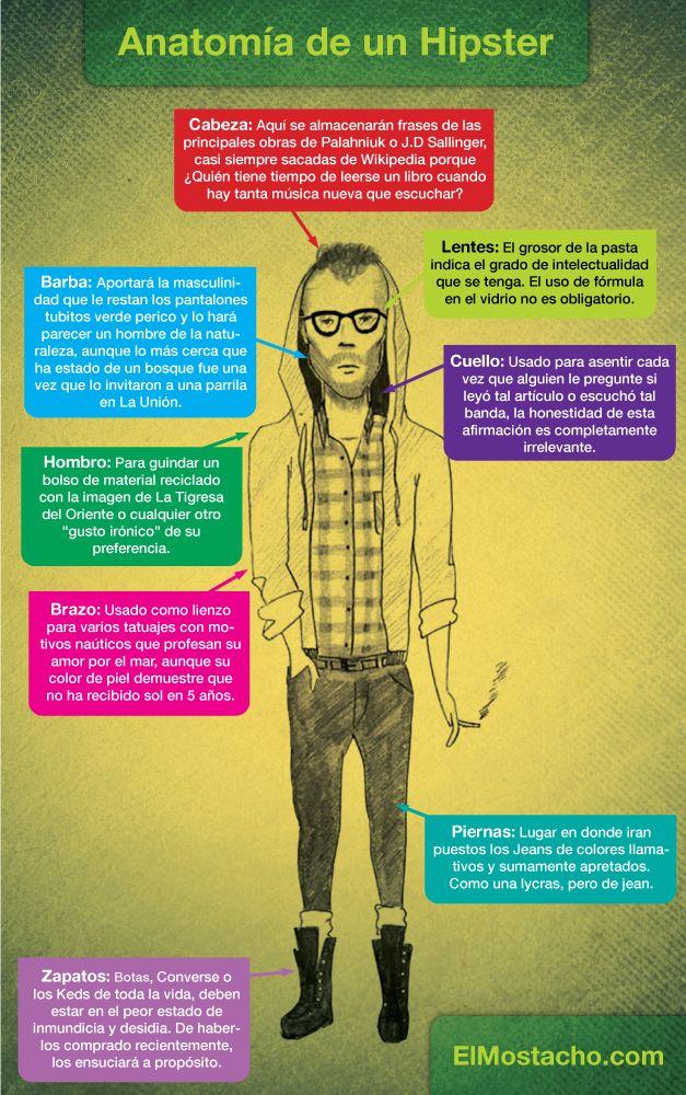 Qu Est Ce Qu Un Hipster : hipster, Anatomía, Hipster, Informative,, Memes,, Geeky