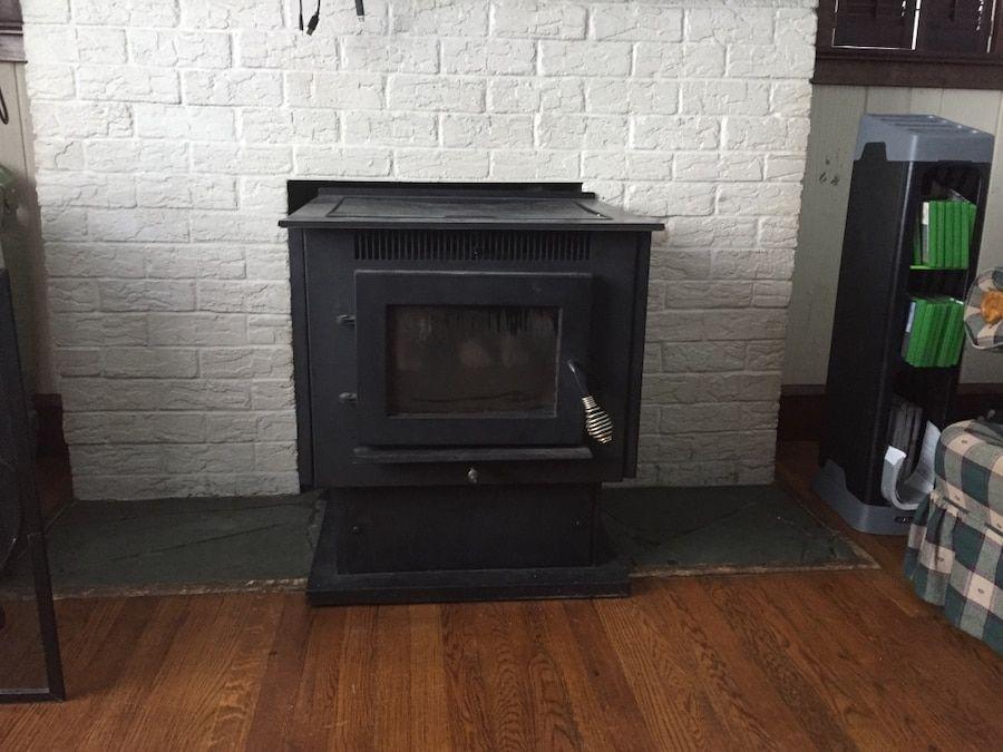 letgo Black cast iron pellet stove in Bristol, PA