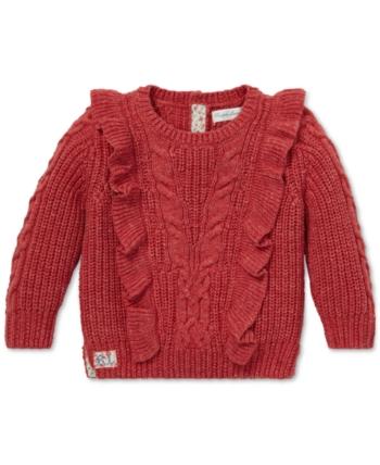c2241874c6 Polo Ralph Lauren Baby Girls Aran-Knit Cotton Sweater - Adirondack ...