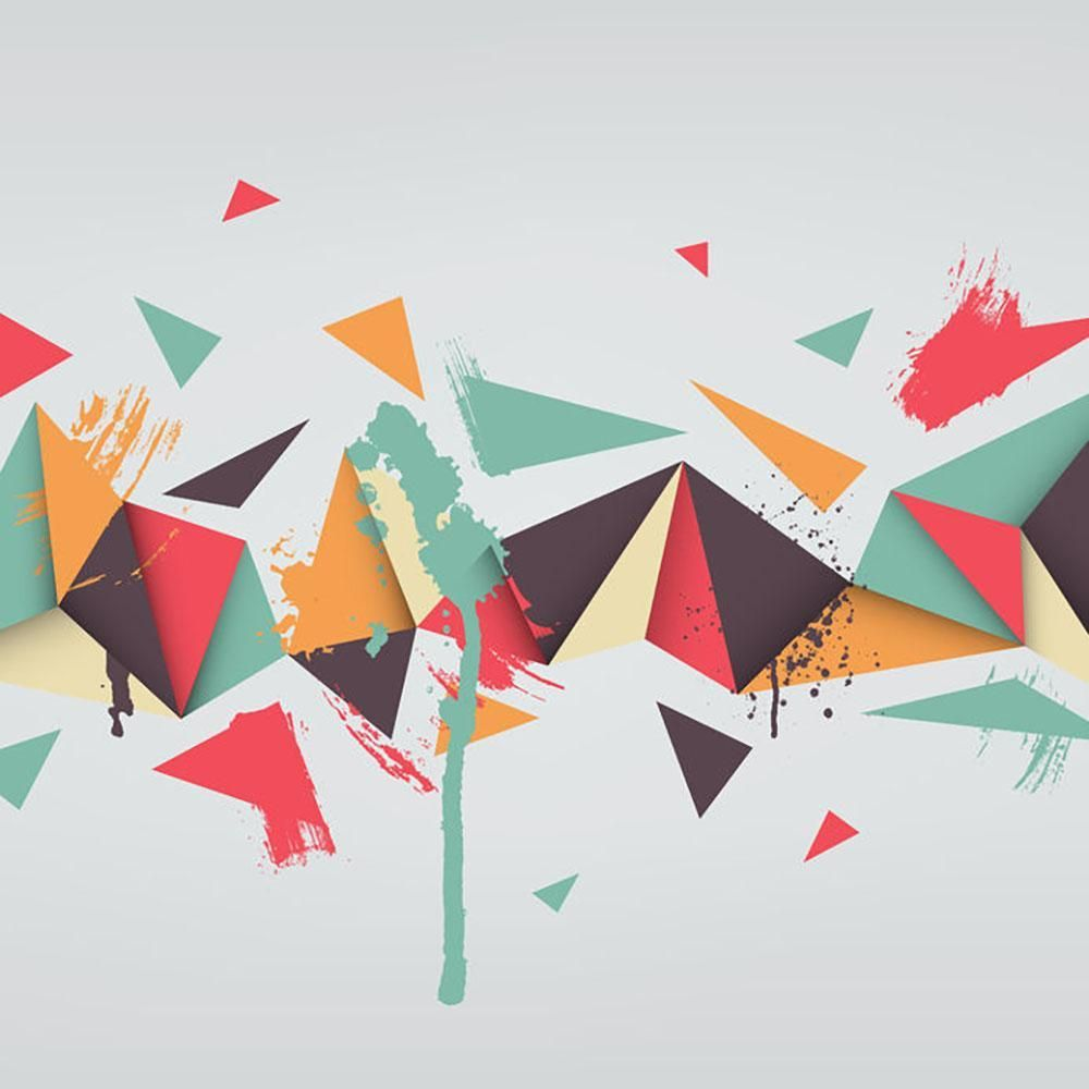 Abstract Texture With Triangles Wall Mural Wallpaper Abstract Poster Prints Vector Background