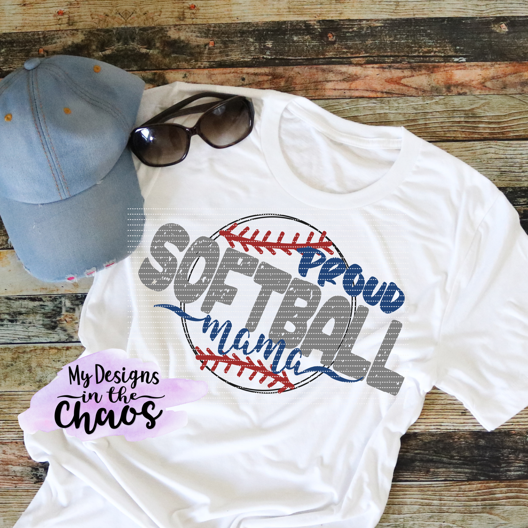 Proud Softball Mama My Designs In The Chaos Svg Designs