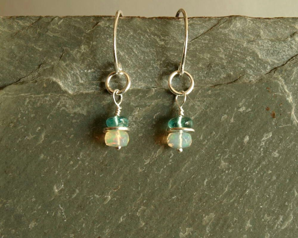 drop gold opal short white pear real flashopal earrings blue danglers jewelry