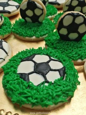 Soccer Ball Icing Decorations Impressive Royal Icing To Decorate These Awesome Soccer Sugar Cookiesthe Design Ideas