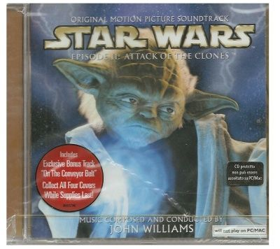 CD STAR WARS 2 ATTACCO DEI CLONI MUSICHE NUOVO ORIGINALE SIGILLATO NEW ORIGINAL SEALED